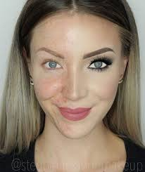half face makeup is hot on social a before since the video was posted thousands of