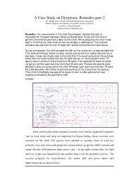 Pdf A Case Study On Dyspraxia Remedies Part 3 Shakti