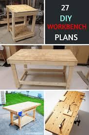 Garage Workbench Design Ideas 27 Sturdy Diy Workbench Plans Ultimate List Mymydiy