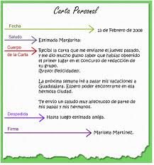 Como Hacer Una Carta Personal Partes De La Carta Personal