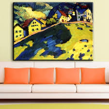 zz817 large size landscape kandinsky oil painting wall art paintings picture paiting canvas print home decor