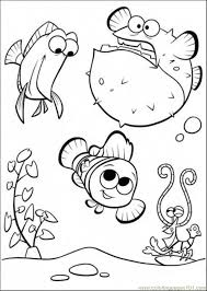Small Picture Happy In Tank Coloring Page Free Finding Nemo Coloring Pages