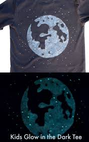 make a glow in the dark t shirt with an image of the moon using