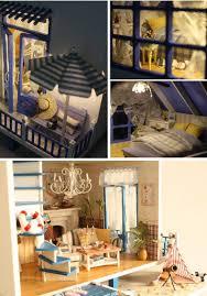 diy dollhouse furniture. Home Decoration Crafts Diy Doll House Wooden Houses Miniature Dollhouse Furniture Room Led Lights