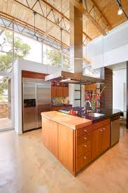 Concrete Floors Kitchen Contemporary Kitchen With Polished Concrete Floors And A High