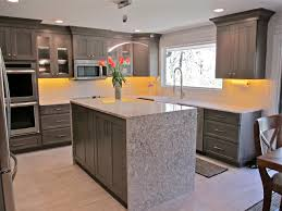 Island In Kitchen Kitchen Island Waterfall Countertop Best Kitchen Island 2017