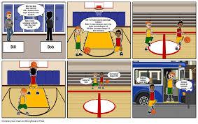 Basketball Match Storyboard By Scaddinga