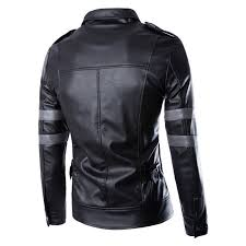 new superdry fashion men s motorcycle coats track biker jacket washed leather