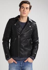 jack jones jorpistol faux leather jacket black men jack jones case puffer