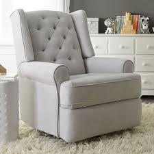 best chairs finley swivel glider recliner  gray tweed  babiesrus