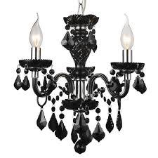 nice black mini chandelier 7 0001881 14 victorian traditional crystal round jet leaf crystals 3 lights lighting cool black
