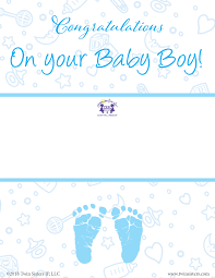 Congratulations On Your Baby Boy Congratulations Baby Boy Gift Certificate Twin Sisters