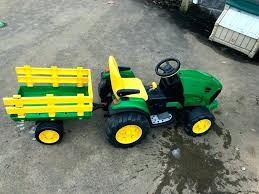 tractor ride on toy battery powered in international toys john deere scooter toddler vine