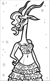 gazelle from zootopia coloring page