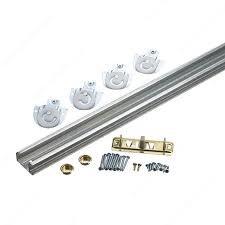 bypass door hardware kit with track