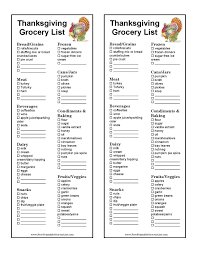 Thanksgiving Grocery List Template Free Printable Thanksgiving Grocery List Template In 2019