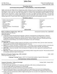 Software Engineer Resume Unique Software Engineer Resume Sample Template