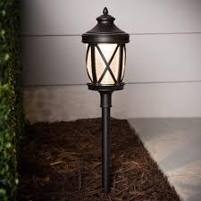 Lowes Low Voltage Landscape Lighting Shop Portfolio 4 Watt Oil Rubbed Bronze Low Voltage Led Path