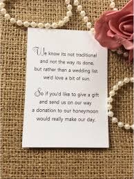 ebay wedding invitations lovely 25 50 wedding gift money poem small cards asking for money cash