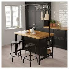 Image Design Ikea Kitchen Island With Rack Vadholma Black Oak