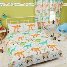 dinosaur world kids matching bedding sets curtains wallpaper
