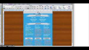 Designing Your Resume In Microsoft Word Youtube