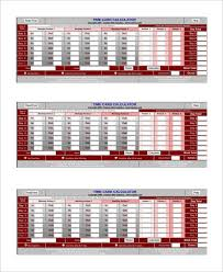 Timecard Calculation Sample Time Card Calculator 19 Documents In Pdf Excel