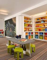 Image Unfinished Basement Basement Playroom Tips Ideas Pinterest Basement Kids Playroom Ideas And Design Tips House Dreaming