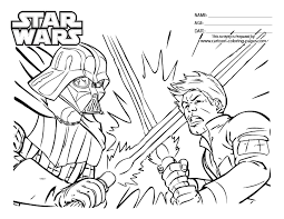 Small Picture Star Wars Online Coloring Pages Luke Skywalker Versus Darth Vader