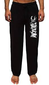 Character Pants Marvel Venom Mens Splatter Character And Script Logo Loungewear Pajama Pants