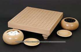 Game With Stones And Wooden Board Wooden Go Table Set 100 x 100 Go ban with bowls and stones 17