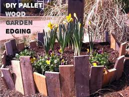 wood post flower bed edging ideas elegant diy garden edging using pallet or any s wood
