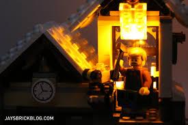 lego lighting. LEGO 10249 Winter Village Toy Shop - Workshop With Light Brick Lego Lighting N