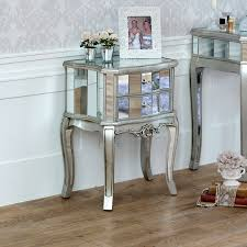 Mirrored bedside furniture White Gloss Mirrored Drawer Bedside Lamp Table Tiffany Range Ebay Mirrored Bedside Cabinet Lamp Table Bedroom Furniture Venetian
