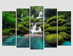 tropical waterfall canvas art tropical
