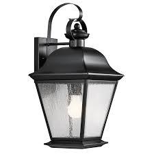 Mount Vernon  Light Outdoor Wall Light In Black Interiors - Black exterior light fixtures