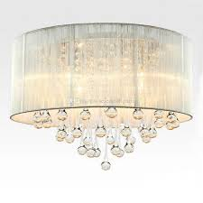 modern drum pendant light fabric shade rain drop crystal chandeliers 6 lights e14 e12 bulb crystal lamp light fixture d 45cm canada 2018 from