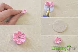 How To Make A Paper Ribbon Flower Tutorial On How To Make A Flower Ribbon Headband For Girls