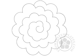 Flowers Templates Spiral Paper Flower Template Magdalene Project Org