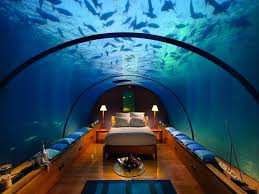 underwater hotel atlantis. Maldives Is Becoming A Hot Spot For Luxury Underwater Resorts, And This Incredible Room No Exception. The Ithaa Undersea Restaurant Sits Sixteen Feet Hotel Atlantis
