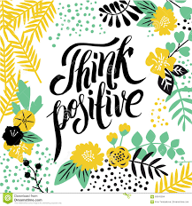 Calligraphy Background Design Modern Calligraphy Inspirational Quote Think Positive