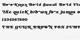 preview your text in bookman bold swash bold italic