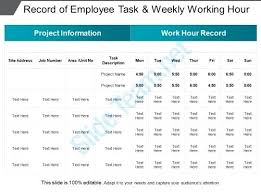 Log Time Sheet For Employees Template Record Employee Hours