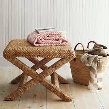 Garnet Hill Sweater Weave Seagrass Cross Bench Look 4 Less