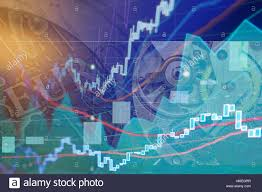 Stock Exchange Chart Graphs Finance Business Background