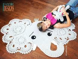 elephant animal rug nursery mat crochet pattern for babies kids and infants animal rugs for nursery