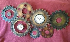metal steampunk style wall clock