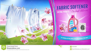 Softener Design Orchid Fragrance Fabric Softener Gel Ads Vector Realistic