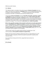 Free Letter Of Recommendation Classy Sample Of A Recommendation Letter Writing Reference For Student