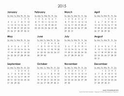 Free 2015 Yearly Calendar Template Inspirational Printable